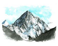 En la montaña es donde más libre me siento. #ilustración