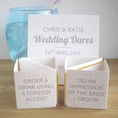 Wedding Table Games: The Best Ice Breakers More