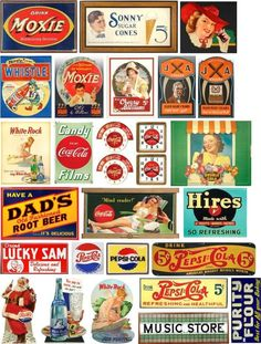 Signs and Graphics for your Model Railroad Template Free, Logo Template, Ho Scale Train Layout, Model Train Layouts, Vintage Labels, Vintage Ads, Vintage Signs, Research Images, Billboard Signs