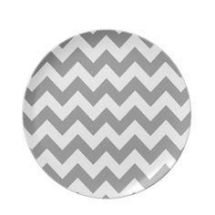 Gray Bold Chevron Party Plates  sc 1 st  Pinterest & Chevron Paper Plates - 9\