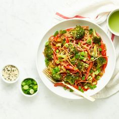 Speedy Veggie Noodle Bowl with Homemade Teriyaki Sauce – Oh She Glows