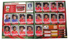 Panini Checkliste WM 2010 Südkorea Sticker eingeklebt
