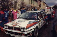 Monte Carlo Won by Bruno Saby in his Lancia Delta HF Intergrale. Martini Racing, Lancia Delta, Rally Car, Car And Driver, Monte Carlo, Cars And Motorcycles, Pilot, Vehicles, Motorbikes