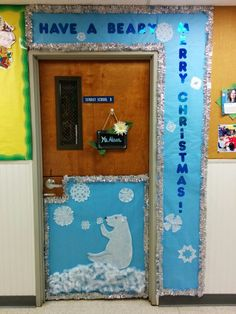 Polar Bear Preschool Door Decoration