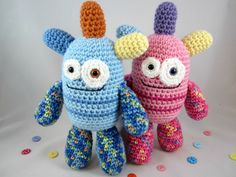 Crochet Monster Plush, Amigurumi Monster, Crochet Alien, Stuffed Monster Toy  by…