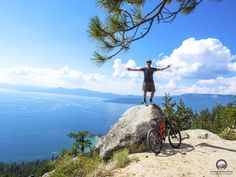 Flume Trail in Lake Tahoe offers you unrivaled views and scenery unlike any other biking trail in the world. Tahoe Vacation Rentals, Incline Village, Splash Mountain, Trail Guide, Mountain Bike Trails, South Lake Tahoe, Sierra Nevada, Lake View, Scenery