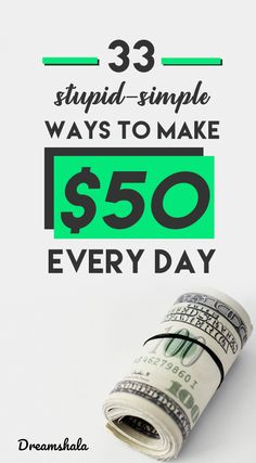 33 stupid-simple ways to make $50 every day. #makemoney #makeextraincome #make50daily #dreamshala Earn Extra Money Online, Earn Money From Home, Make Quick Money, Way To Make Money, Self Employed Jobs, Make Money From Pinterest, Freelance Writing Jobs, Simple Way, Making Ideas