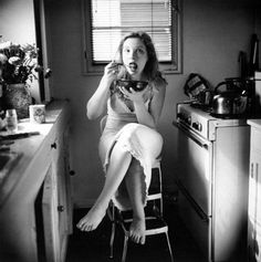 Julie Delpy on the set of Before Sunrise