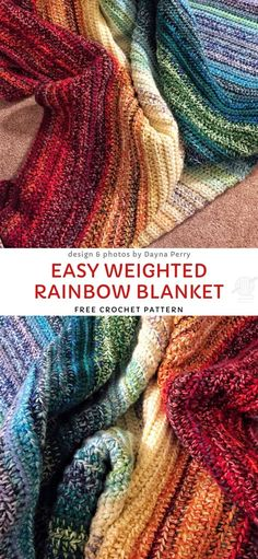 Stunning Modern Crochet Blankets,Easy Weighted Rainbow Blanket Free Crochet Pattern Produce crochet quilts yourself Who doesn't love a blanket where you could hide and warm up in cold. Modern Crochet Blanket, Afghan Crochet Patterns, Free Crochet Afghan Patterns, Free Crochet Patterns For Beginners, Crochet For Beginners Blanket, Crochet Stitches, Crochet Afgans, Knit Crochet, Crochet Ripple