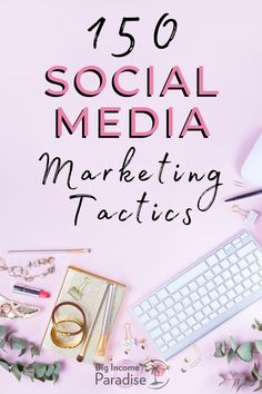If you want to grow your business fast, then you have to have a good Social media marketing strategy. That's why you should grab these 150 Top Social Media marketing tactics made for entrepreneurs. You will grow your online business faster than ever if you implement any of these strategies. #BigIncomeParadise #SocialMediaStrategies #SocialMediaMarketingStrategies #SocialMediaTactics Online Marketing Strategies, Marketing Tactics, Top Social Media, Social Media Marketing, Growing Your Business, Online Business