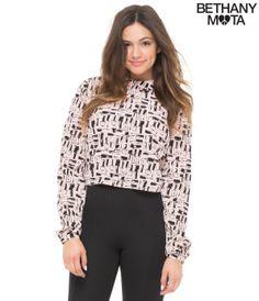 Nail Polish Print Woven Shirt