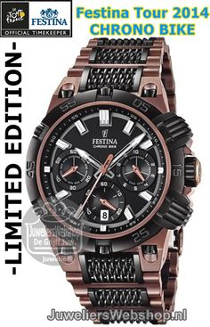 Festina F16776-1 Tour de France Chrono Bike Copper Limited Editon 2014 horloge Heren
