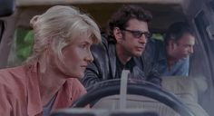 Ellie Sattler (Laura Dern), Ian Malcolm (Jeff Goldblum), and Alan Grant (Sam Neill) in 'Jurassic Park.'
