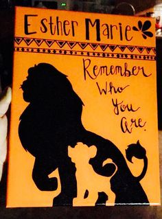 Lion King - Simba - Mufasa - Remember Who You Are - Canvas Art
