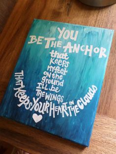 Anchor Painted Canvas 8x10in by Meglovestopaint on Etsy, $20.00