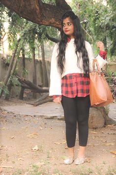 Cropped sweater   #croptop #fashion #style #red #ootd #leggings #india #mumbai #blog #hair #beautiful #gold #leather