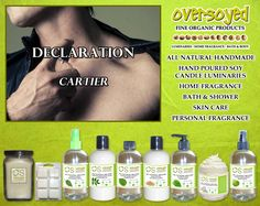 Declaration for Men (Compare To Cartier®) Product Collection - Top notes are artemisia, caraway, coriander, birch, mandarin orange, bergamot, neroli and bitter orange; middle notes are iris, ginger, cinnamon, pepper, juniper, orris root, jasmine and guatemalan cardamom; base notes are leather, amber, tea, tahitian vetiver, oakmoss and cedar. #OverSoyed #Declaration  #Cartier #Candles #HomeFragrance #BathandBody #Beauty