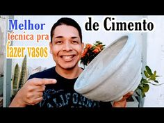 Cement Crafts, Gardening Tips, Concrete, Pasta, Drinks, Youtube, Food, Cement Flower Pots, Cement Leaves