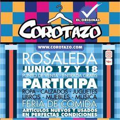 @corotazo #bazar  #LaRosaleda   ¿qué esperas para inscribirte? En el bazar mas exitoso de San Antonio BAZAR  COROTAZO El Original, el Bazar más organizado, alegre, rentable y amable de Venezuela  * 17 y 18 de junio del 2017  * La Rosaleda, San Antonio de los Altos