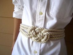 Cotton rope sailor knot belt - cute with the summer dresses