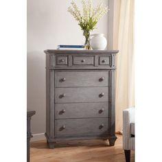 Alpine Furniture West Haven 5 Drawer Tall Boy Chest