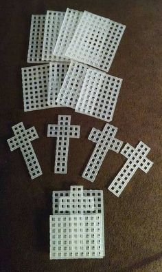 Listing is for this set of 5 cross in my pocket plastic canvas cut outs. These measure perfect size for any pocket. Plastic Canvas Letters, Plastic Canvas Stitches, Plastic Canvas Coasters, Plastic Canvas Ornaments, Plastic Canvas Tissue Boxes, Plastic Canvas Christmas, Plastic Canvas Crafts, Free Plastic Canvas Patterns, Plastic Craft