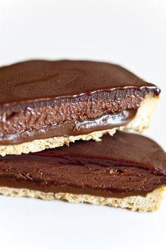 chocolate mousse caramel tarts