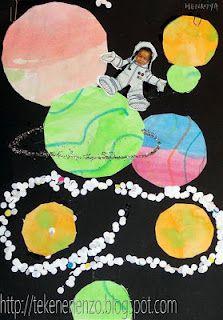 Knutselen 2d: Astronaut in de ruimte