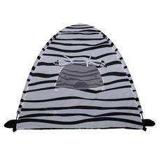 Pillowfort Zebra Play Teepee, Black