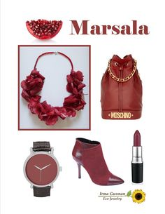 Marsala, a rich reddish brown inspired by the Sicilian cooking wine, is the must-have hue of 2015. #pantone #marsala #coloroftheyear