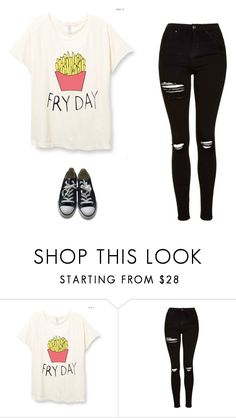 """""""Untitled #565"""" by danieledepaula ❤ liked on Polyvore featuring Topshop and Converse"""