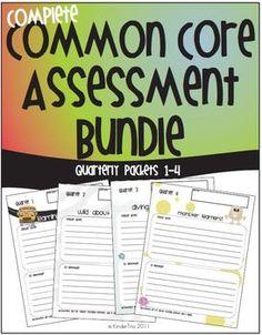 Kindergarten Common Core Standards Assessment Bundle