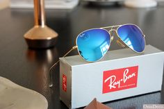Ray Ban Aviator 3025 blue mirror