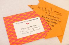 brilliant tangram wedding branding