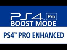 PS4 PRO Boost Mode Do Not Resolve All PS4 Frame Rate issues