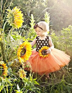 Couture You Are My Sunshine Tutu DressWow Stunning for Fall Photos & Birthdays!6 Months to 8 YearsMatching Headband, Birthday Hat, & Shoe Available Too!