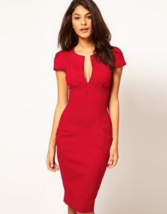 Image 1 of ASOS Sexy Pencil Dress with Pockets
