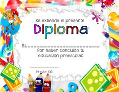 7 diplomas to complete pre-school studies - Decoration For Home Graduation Certificate Template, Certificate Design Template, Certificates Online, Award Certificates, Graduate School, Pre School, Fall Arts And Crafts, Preschool Graduation, School Parties
