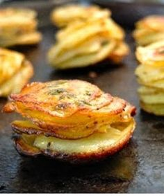 L'il Pomme Anna -- crisp, delicious potatoes with herb butter.
