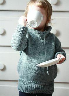 Baby Pullover stricken grau
