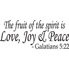 Design on Style 'The Fruit of the Spirit' Bible Verse Vinyl Wall Art Quote - Overstock Shopping - The Best Prices on Vinyl Wall Art