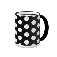 Polka Dots Ringer Coffee Mug