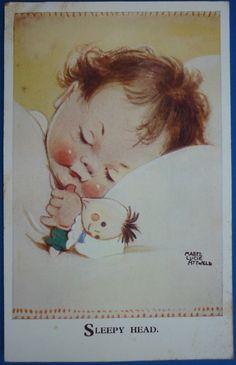 Illustration by Mabel Lucie Attwell (English, Vintage Greeting Cards, Vintage Postcards, Vintage Pictures, Vintage Images, Drawing For Kids, Art For Kids, Baby Illustration, Vintage Children, Belle Photo