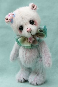 "Posie 4"", miniature artist bear by Jane Mogford - Pipkins bears- available now over at www.teddiesworldw..."