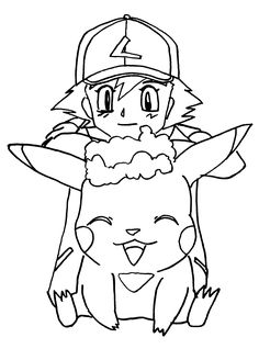 pokemon coloring pages pikachu and ash google search good pages