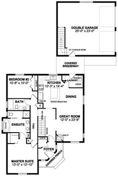 Traditional House Plan 96204 Level One