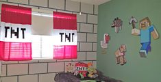 Want to know an easy way to turn a bedroom into a Minecraft lover's dream? Check out this easy DIY Minecraft bedroom block wall tutorial. Krafty Nook, Boy Room, Kids Room, Minecraft Wall, Block Wall, Bedroom Wall, Bedroom Ideas, Diy Bed, Easy Paintings