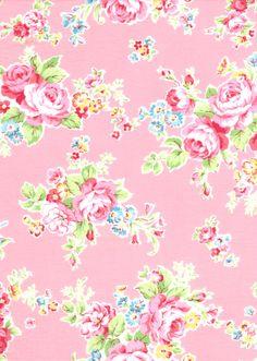 Japanese, Lecien ANTIQUE FLOWER in PASTEL, 30454-20, Large Flowers in Pink, 1/2 yard. $5.00, via Etsy.