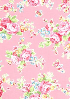Japanese, Lecien ANTIQUE FLOWER in PASTEL, 30454-20, Large Flowers in Pink, 1/2 yard. $5.00, via Etsy.