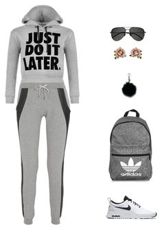 """sport"" by candynena228 ❤ liked on Polyvore featuring Lot78, WearAll, NIKE, adidas, Yves Saint Laurent, Les Néréides and MICHAEL Michael Kors"
